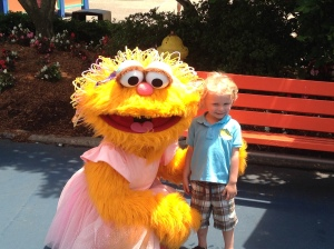 Liam and Zoe at Sesame Place